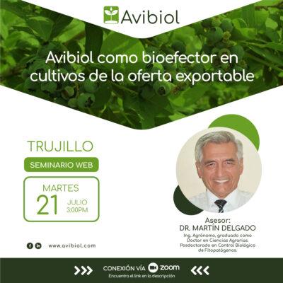 Avibiol como bioefector en cultivos de la oferta exportable